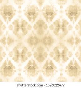 Dye Faded Fabric. Taupe Bohemian Art. Seamless Geo Optical Tile. Zigzag Ikat Print. Ecru Decoration. Ethnic Tie Dye. Beige Navajo White Repeat. Shibori Pattern. Frost Gray Background.
