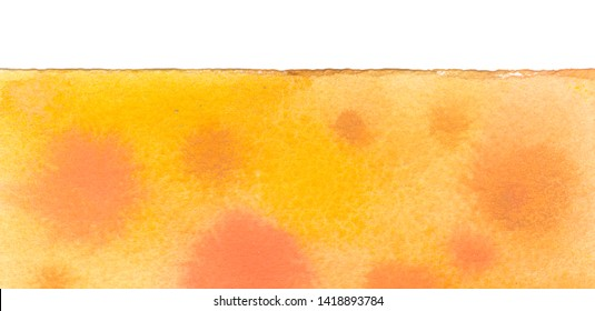 Dye tie pattern for fabric design in abstract watercolor style with natural texture. Sunny dyeing for hand painted yellow tie-dye fabrics. Vibrant summer dye design for print textile.