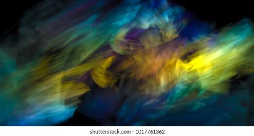 dynamic colorful abstraction, digital artwork, design element