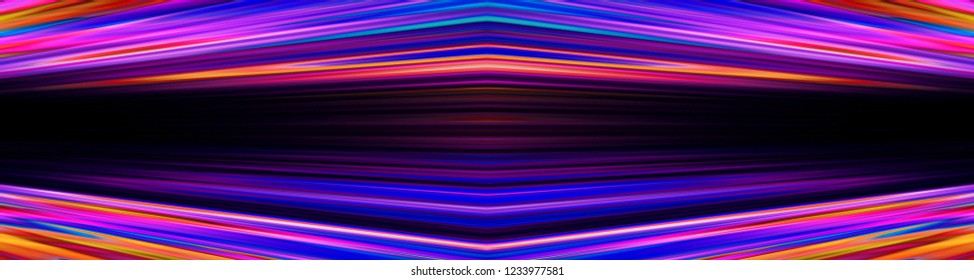 Dynamic colourful orange and blue blur banner with black copy space