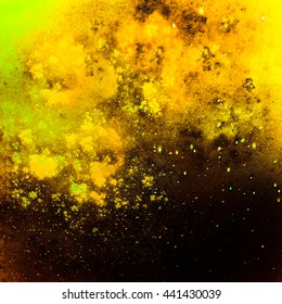 A dynamic and dramatic abstract background, like on an abstract amber crafts. Expressive and gorgeous iridescent background. Grunge  background. The effect of grain, mist, fog.