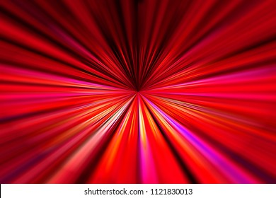 Dynamic red and purple converging lines background with selective focus