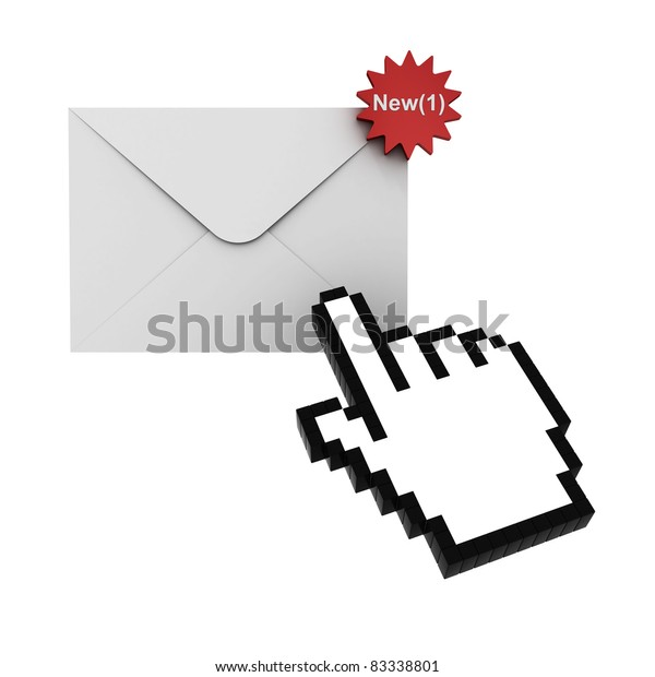E mail notification new email message in the inbox concept