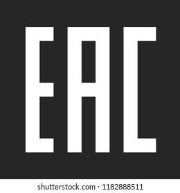 EAC sign. Eurasian Conformity certification mark