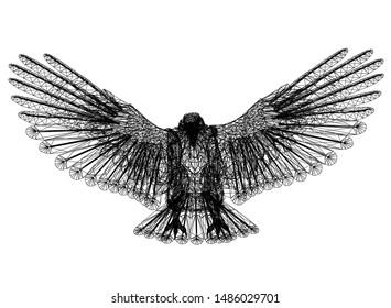 eagle sketch - 3D rendering