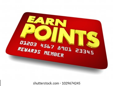 Earn Points Reward Card Shopping Customer Loyalty 3d Illustration
