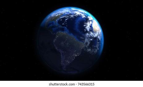 Earth 3d Render