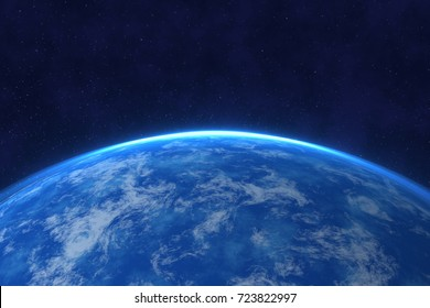 Earth, Blue Planet in Space