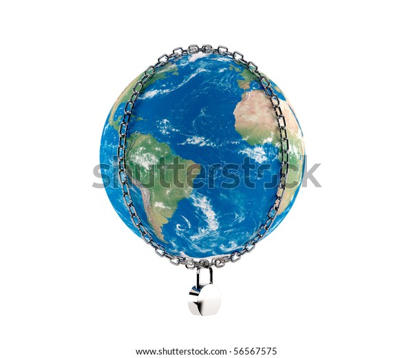 The Earth In Chains On The Lock
