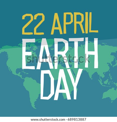 Earth day poster design flat style stock illustration 689813887 earth day poster design in flat style 22 april holiday card similar world map gumiabroncs Images
