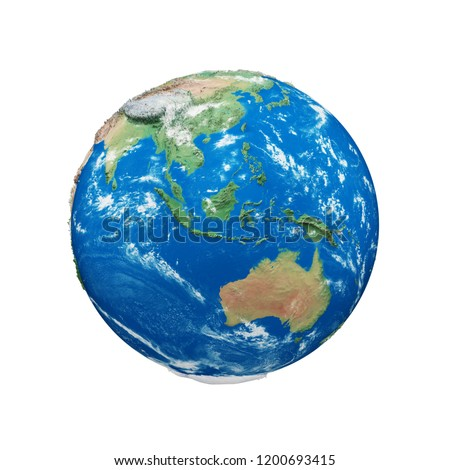 Royalty Free Stock Illustration Of Earth Globe Realistic 3 D Color