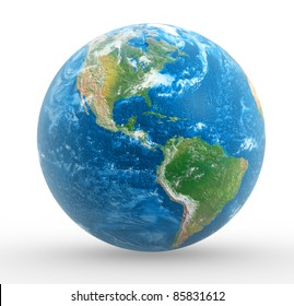 Earth globe. This is a 3d render illustration