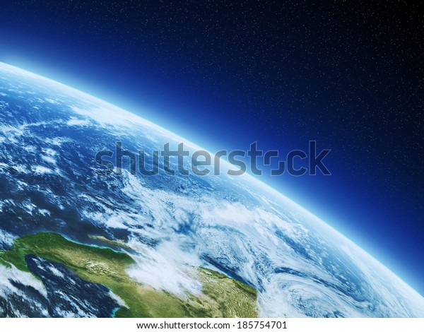 Earth from high orbit