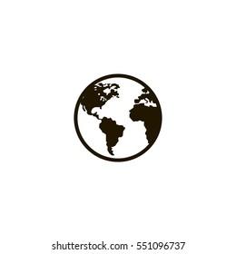 earth icon. sign design