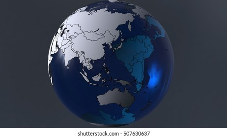 Earth planet for background. 3D illustration. 3D CG. High resolution.