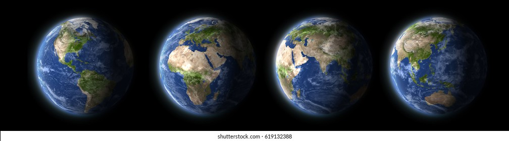 earth planet different view (elements of this image are furnished by NASA)