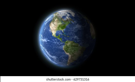 earth planet isolated on black, some elements of this image are furnished by NASA