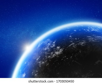 Erde aus dem All. Elemente dieses von der NASA bereitgestellten Bildes. 3D-Rendering