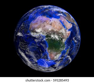 Earth from space. Elements of this image furnished by NASA. 3d rendering.
