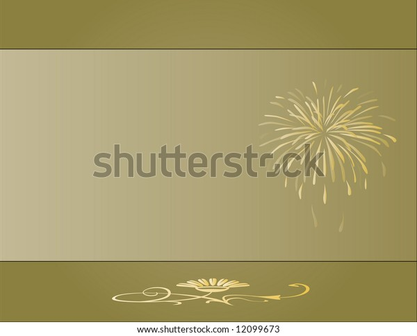 Earth tone background with golden design