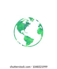 Earth watercolour nature