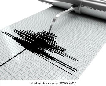 earthquake measures 3d rendering