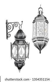 East lamp. Graphics