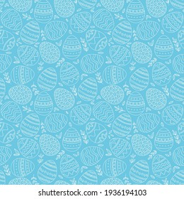 easter background in blue colour