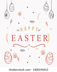 Easter celebration  greeting card image