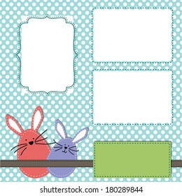 easter design template three 4 x 6 transparent stock vector royalty