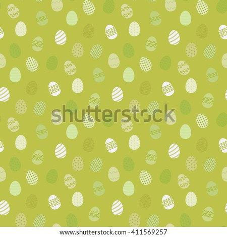 Royalty Free Stock Illustration Of Easter Eggs Pattern Flat Style