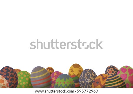 easter themed background you can see stock illustration 595772969