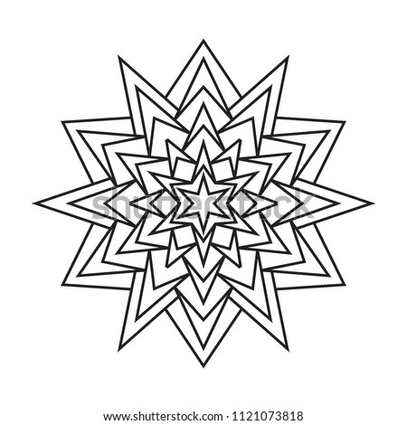 Easy Basic Simple Mandalas Coloring Pages Stock Illustration ...