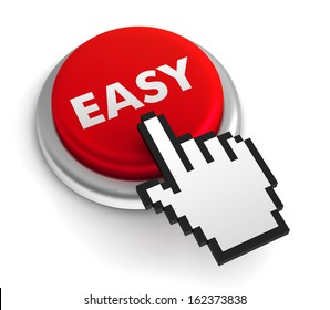 easy button isolated