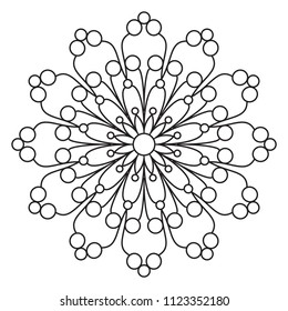 easy mandala doodles mandalas flower pattern stock illustration