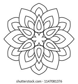 Easy Mandala Basic And Simple Mandalas Coloring Book For Adults Seniors Beginner