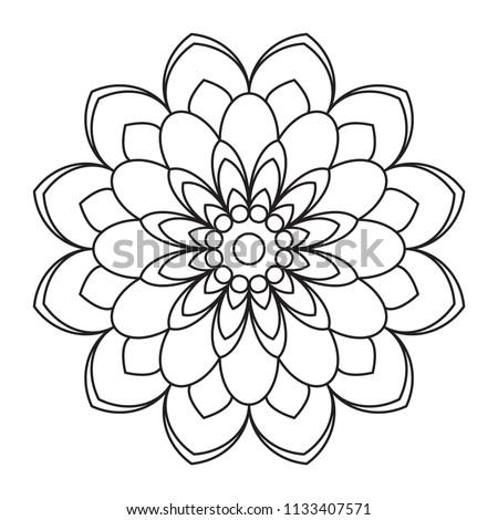 Easy Mandala Flower Drawing