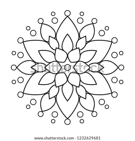 Royalty Free Stock Illustration Of Easy Mandala Coloring Page