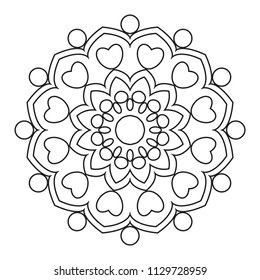 simple mandala shape coloring vector mandala stock vector royalty