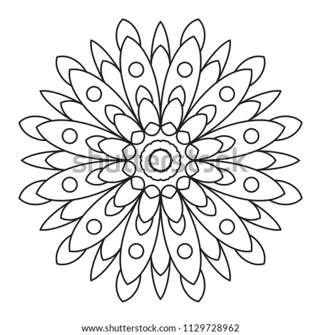 Easy Mandala Coloring Page Simple Mandalas Stock Illustration