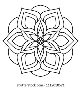 Easy Mandala coloring simple and basic for beginners, seniors and children.