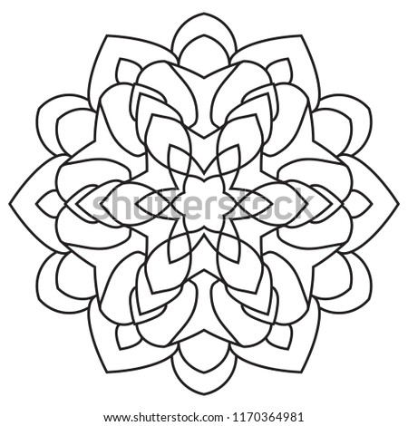 easy mandalas basic simple mandala coloring stock illustration
