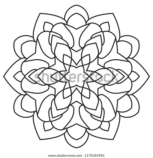 Easy Mandalas Basic Simple Mandala Coloring Stock