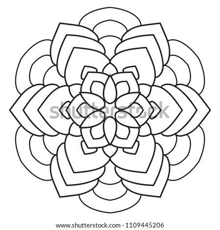 Royalty Free Stock Illustration Of Easy Mandalas Beginners Mandala