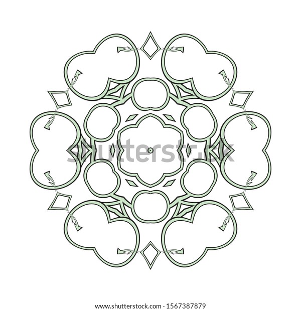 Easy Mandalas Coloring Pages Adults Seniors Stock Illustration 1567387879