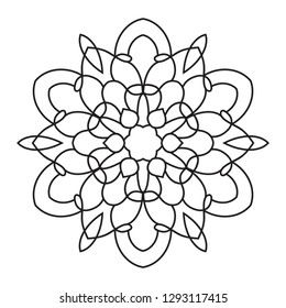 easy mandalas, mandala coloring page one white background