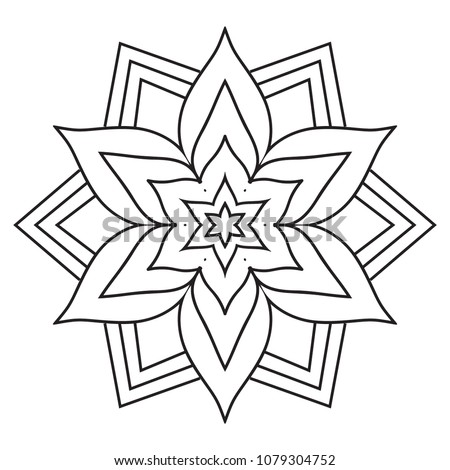 mandala coloring pages easy Easy Simple Mandala Coloring Pages Doodle Stock Illustration  mandala coloring pages easy