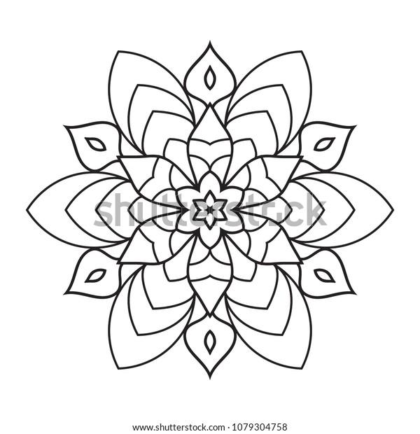 Free Simple Mandala Coloring Pages printable #4087 Free Simple Mandala  Coloring Pages ~ Coloringtone Book | 620x600