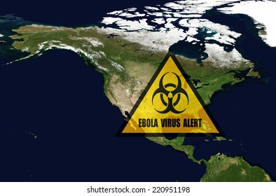 Ebola danger in USA.Elements of this image furnished by NASA.