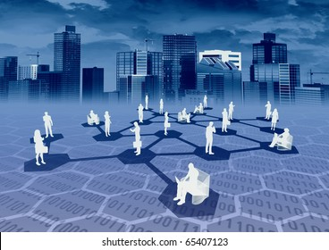 Ebusiness Social Network Concept